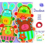 Wooden Lacing Game - Soft Animals
