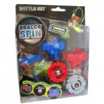 Toupie Dracco Spin : Battle set 2 toupies Rouge et gris