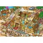Puzzle 1000 pièces - Cartoon Collection : Pyramide d'Egypte