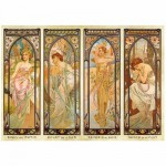 Puzzle 1000 pices - Alphonse Mucha : Les heures du jour