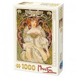 Puzzle 1000 pices - Alphonse Mucha : Rverie