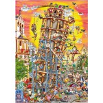 Puzzle 1000 pièces - Cartoon Collection : Tour de Pise