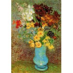 Puzzle 1000 pices - Van Gogh : Fleurs dans un vase bleu