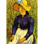 Puzzle 1000 pices - Van Gogh : Jeune Paysanne avec un chapeau de paille