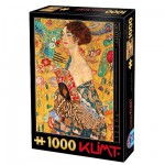 Puzzle 1000 pices - Klimt : Femme  l'ventail