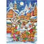 Puzzle 240 pices - Christmas Collection : A bord du traineau