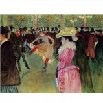 Puzzle 515 pices - Henri de Toulouse-Lautrec : Danse au Moulin Rouge