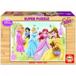 Puzzle 100 pices - Puzzle en bois : Princesses Disney