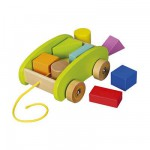 Chariot  tirer Cubes en bois