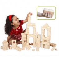 Blocs de construction en mousse : Wood-like Soft Blocks 80 cubes