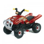 Quad à pédales Racing rouge