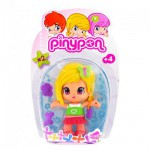 Poupée 7 cm Pinypon : Fillette blonde et papillon vert