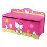 Coffre  jouets en bois Hello Kitty