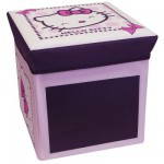 Tabouret de rangement avec ardoise : Hello Kitty