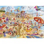 Puzzle 1000 pices - La plage en folie