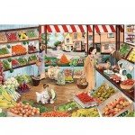 Puzzle 500 pices - Boutique de fruits et lgumes