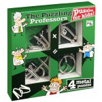 Casse-ttes en mtal x 4 Professor Puzzle : Junior