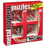Casse-ttes en mtal x 4 Professor Puzzle  :  Srie Difficile