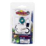 Porte-cls avec toupie et lanceur Beyblade Metal Fusion : Roch Leone