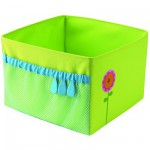 Rves sous la tonnelle - Bac de rangement pliable : Fleur verte