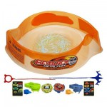 Stadium avec toupies Beyblade Metal Fury : Hyper-Strike Battle Set