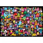 Puzzle 2000 pices - Burgerman : Bonjour  tous