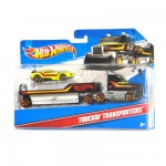 Camion transporteur Hot Wheels et sa voiture : Muscle Mania
