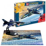 Maquette avion : Snap Model Kit et puzzle 150 pièces : F16 Fighting Falcon