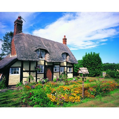 Puzzle 1000 pices - Classic Deluxe : Cottage du Hanley Castle