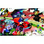 Puzzle 48 pièces - Excursion en automobile