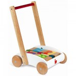 Chariot de marche Mini Buggy + cubes de construction