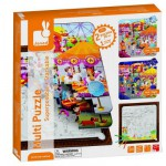 Puzzle 2 x 36 pices et coloriage : Multi puzzle Fte foraine