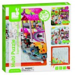 Puzzle 2 x 36 pices et coloriage : Multi puzzle Parc