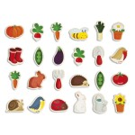 Wooden Magnet - 24 Pieces : Garden