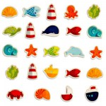 Wooden Magnet - 24 Pieces : Ocean