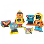 Wooden Magnets - Funny Robot Magnets