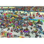Puzzle 1000 pices - Jan Van Haasteren : Course de motos