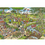 Puzzle 1000 pices - Jan Van Haasteren : Le Parc