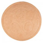 Kaloo Sable - Tapis rond caramel