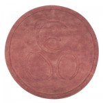 Kaloo Sable - Tapis rond chocolat