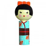 Poupe Kokeshi en bois : Porte bonheur Asami
