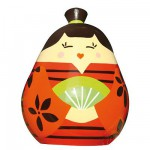 Tirelire Kokeshi : Satomi