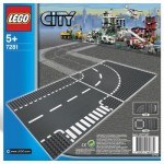 Lego 7281 - City Construction : Virage et croisement