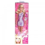 Barbie - Glitz Glitter Doll : Pink and Silver