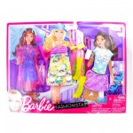 Vtements pour poupe Barbie 3 Tenues de loisirs Fashionistas : Shopping sous la pluie