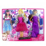 Vtements pour poupe Barbie 3 tenues du soir : Soire dansante