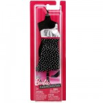 Vtements pour poupe Barbie Robe fabuleuse : Noire  pois argents