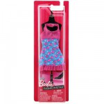 Vtements pour poupe Barbie Robe fabuleuse : Rose et turquoise avec coeurs