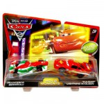 Figurines Voitures Cars 2 : Ka-Ciao Flash McQueen et Francesco Bernoulli