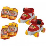 Patins à roulettes et protections Cars Pointure : 22/29